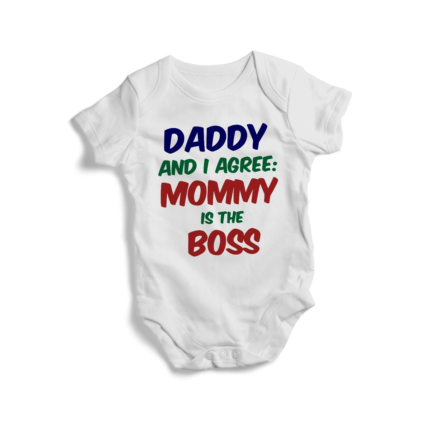 f9cdb877f Amazon.com: Daddy's and i agree mommy is the boss colourful baby onesie  bodysuit baby onesie for game fan gift for new born. print (New Born long  sleeves): ...