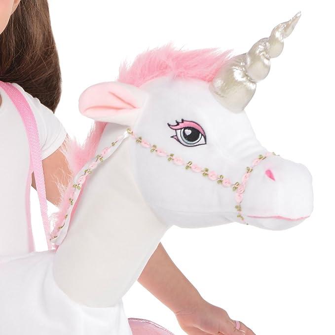 f954b4b0ea24 Amazon.com: Fancy Dress VIP Adult Ladies Ride On Unicorn Pony Fancy Dress  Costume: Toys & Games