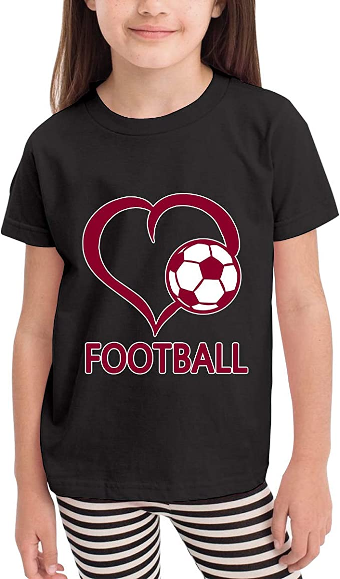 Football Love 2-6 Years Old Children Short Sleeve Tee Shirts