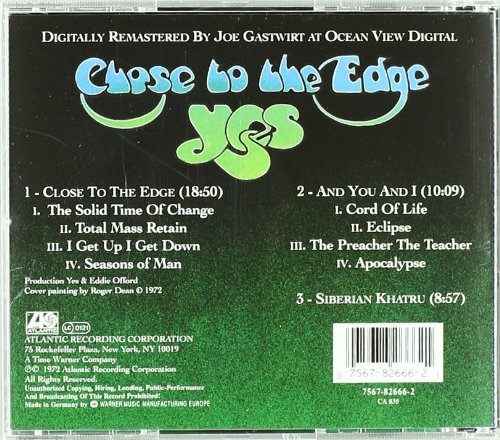 b22d79150432 Yes - Close to the Edge - Amazon.com Music