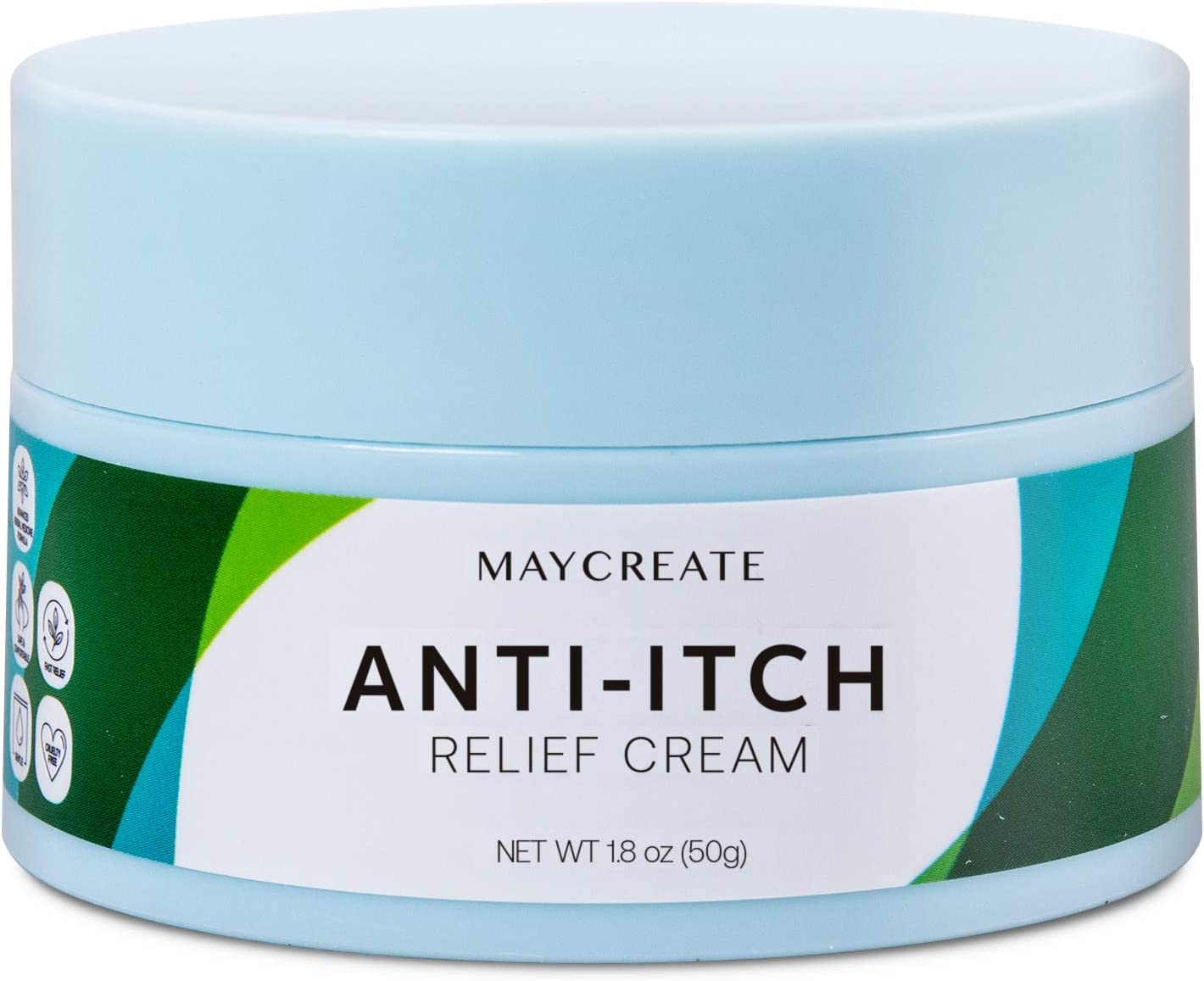 Maycreate Anti-Itch Cream Maximum Strength - Natural, Herbal Ingredients - Moisturizes & Nourishes