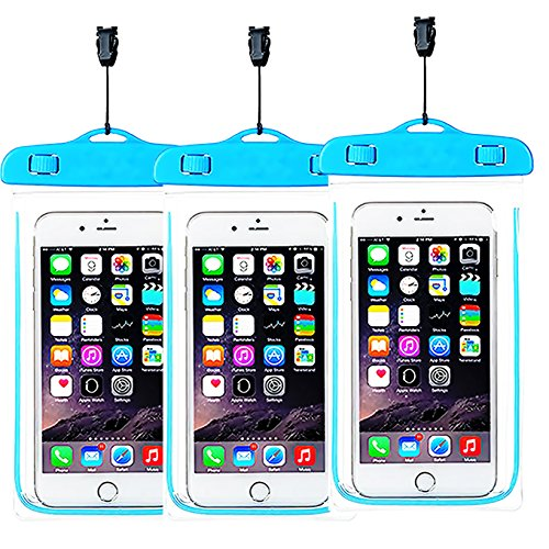[3pack]Waterproof Case, iEugen Universal IPX8 Waterproof Phone Pouch Underwater Phone Case Bag for iPhone X/8/8P/7/7P, Samsung Galaxy S9/S9P/S8/S8P/Note 8, Google Pixel/LG/HTC up to 5.7
