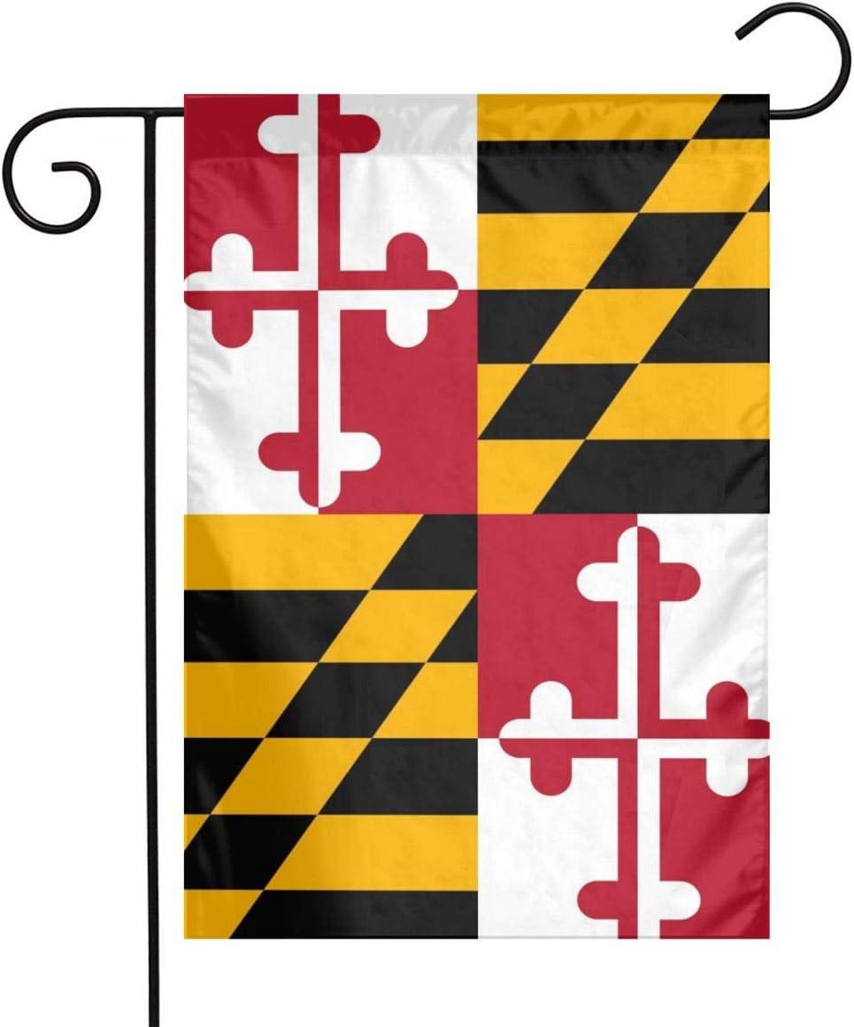 Bargburm Flag of Maryland Small Garden Flag Vertical Double Sided Outdoor Yard Decor 12 X 18 Inch