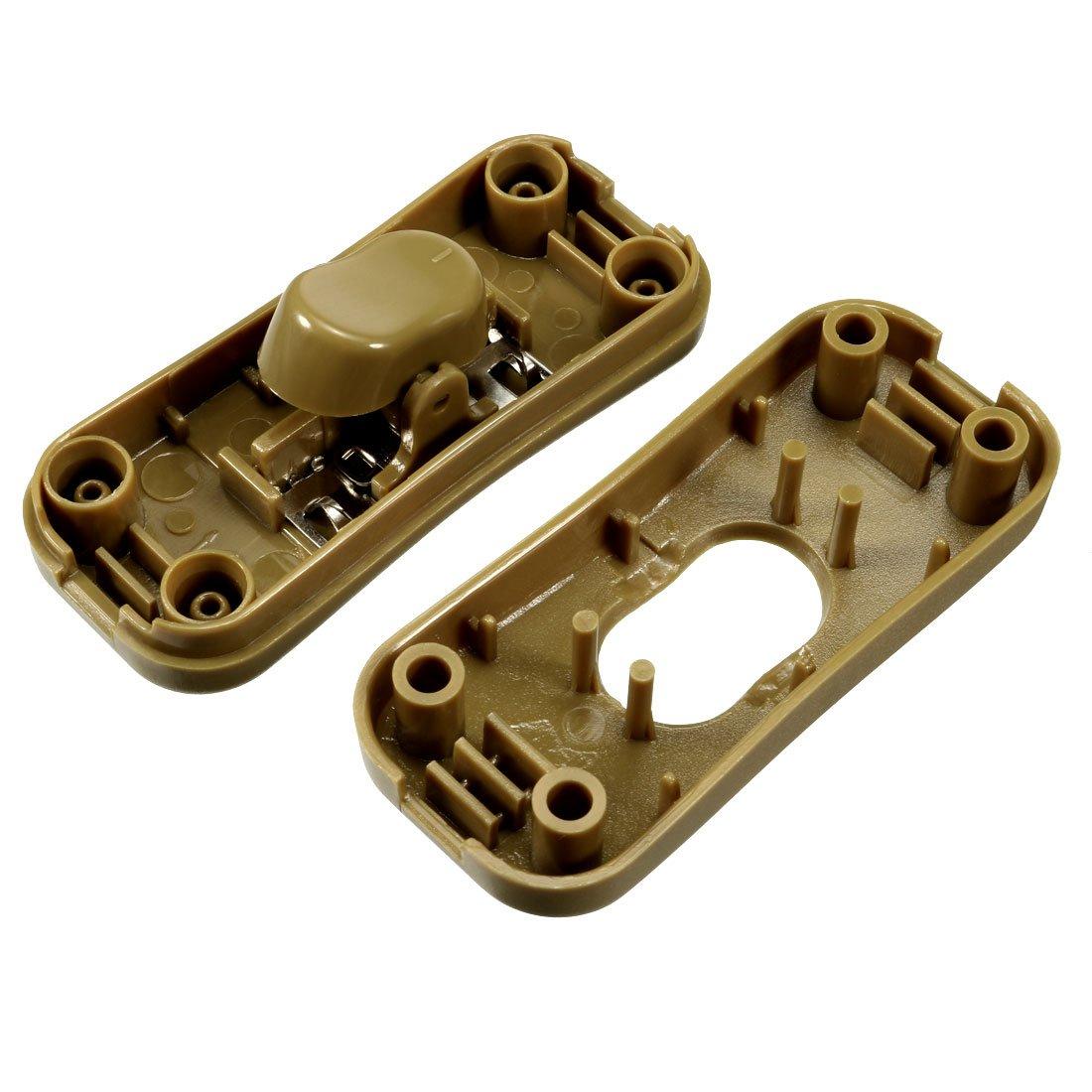 sourcing map 3 Set Tisch Lampe Wippe Schalter 2A In Linie Kable Schalter Bronze Ton DE de