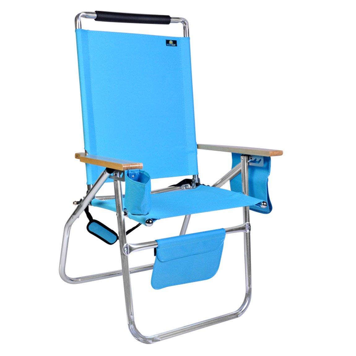 デラックス17インチ高シートアルミビーチ椅子 B079NLFLN2 861 861