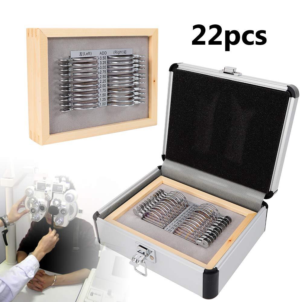 22pcs Professional Progressive Trial Lens Set with Aluminum Case Measurement range sph: 1.00-3.50DS by TUQI