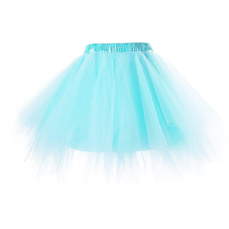 Bettli Girls's Short Vintage Short Tulle Petticoat Skirts Tutu Ballet Bubble Tutu Underskirt B-TSBK2