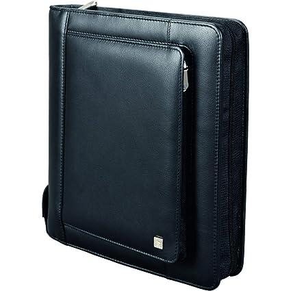 Bind T300-1 - Agenda (A4, con tarjetero, sin calendario, cuero), color negro