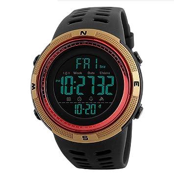 GEESENSS Reloj Digital Impermeable para Hombres Moda Luminoso Deporte al Aire Libre Gimnasio rastreador Relojes de