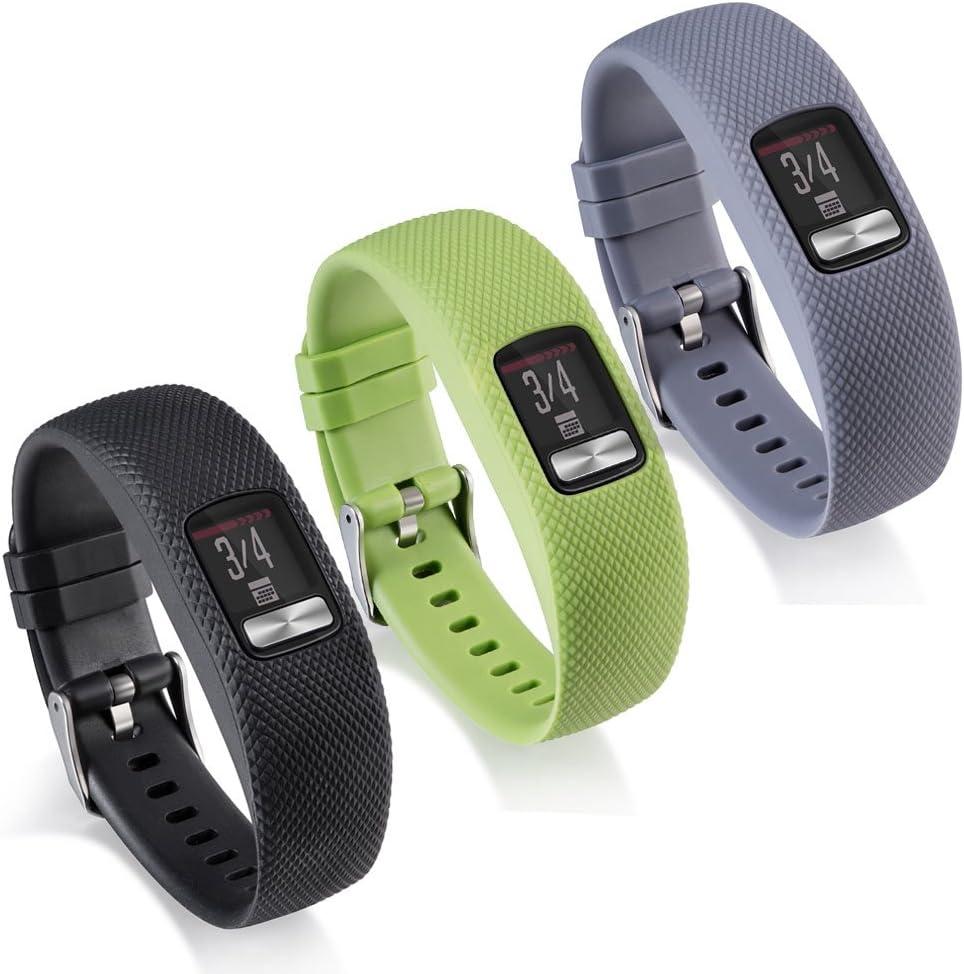 No Tracker Black, Small Garmin Vivofit 4 Band Newest Silicone Replacement WatchBand Strap Band Wristband for Garmin Vivofit 4