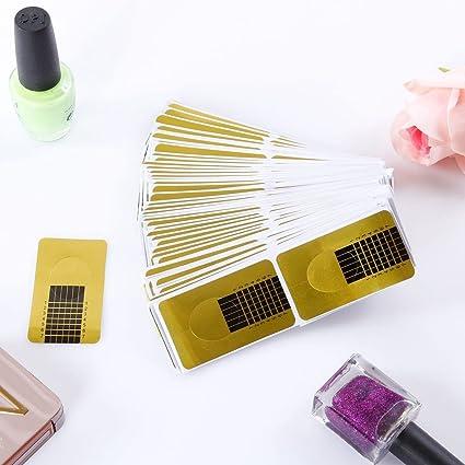 Prochive - 100 pegatinas de uñas desechables para manicura, esculturas, extensiones de uñas,