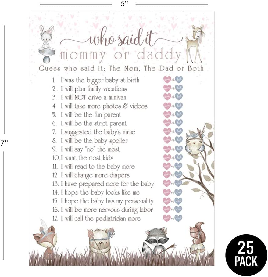 who said it baby shower game
