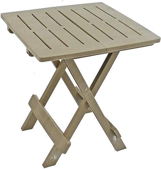 Opulence Trading - Mesa plegable para jardín, resistente y práctica, resistente a la intemperie, color marrón: Amazon.es: Jardín
