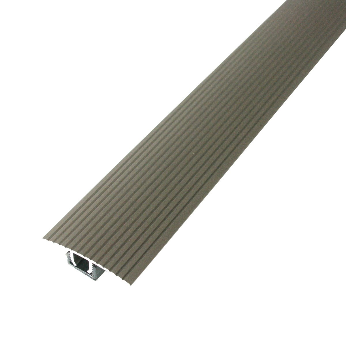 M-D Building Products Cinch T-Molding w/SnapTrack (Fluted) 36'' Satin Nickel Satin Nickel