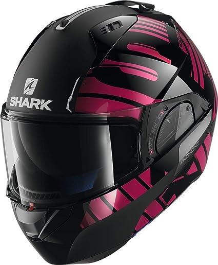Shark Casco modulable evo-one 2/lithion Dual Negro Cromo p/úrpura Kuv talla M