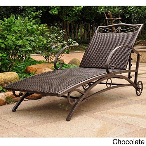 Resin Wicker Single (Valencia Resin Wicker/Steel Multi Position Single Chaise Lounge)