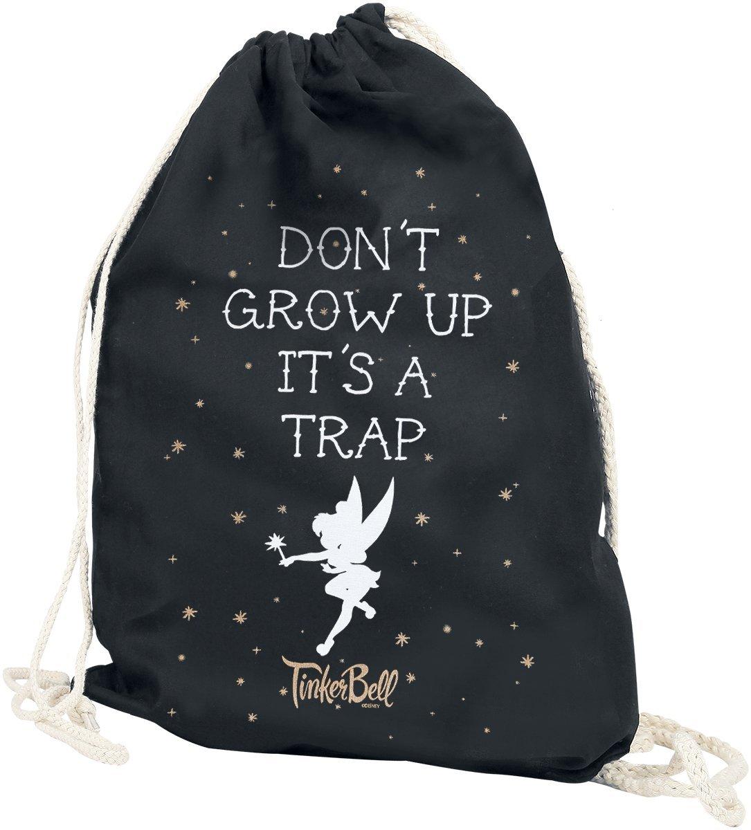 Tinker Bell Don´t Grow Up Bolsa de deporte Negro Elbenwald 7298