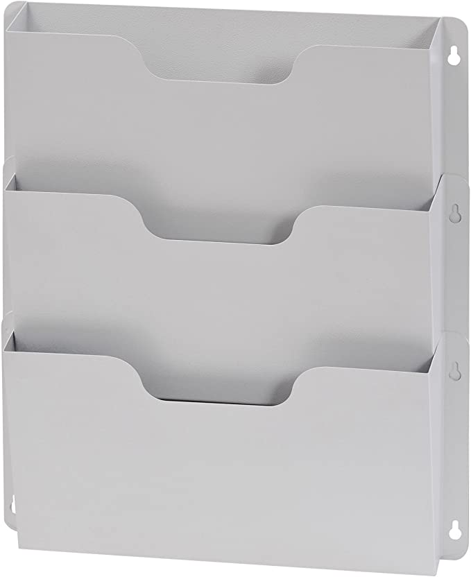 Platinum 2.5 x 8.25 x 17.25 Inches 5202-32 Buddy Products Legal Size Steel Wall Pocket