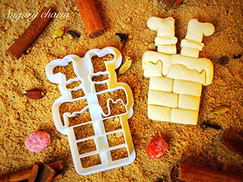 Santa's Stuck in the Chimney Cookie Cutter - 3d Shaped Christmas Dough Cutters by Sugary Charm - Mini Biscuit Mold for Kitchen Baker - Santa Claus Present for Making Cookies