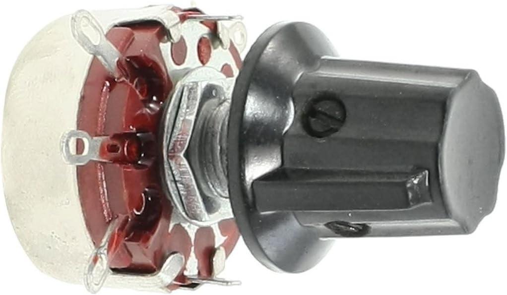 Andifany WTH118 470K ohm 2W Single Turn Rotary Taper Carbon Potentiometer Pots w Knob