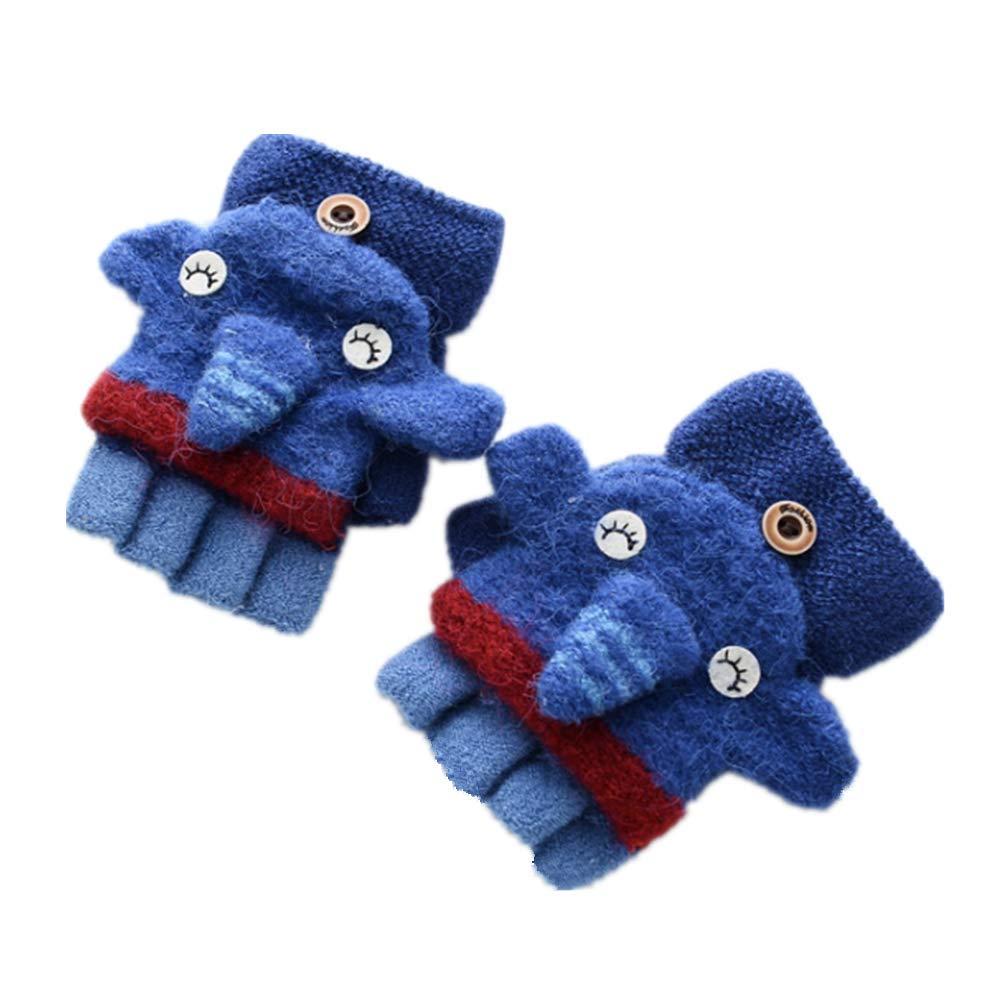Vimeet Kinder Gestrickte Fingerlose Fäustlinge Handschuhe Fausthandschuhe Winterhandschuhe Mitten Strickhandschuhe Baby Fingerhandschuhe