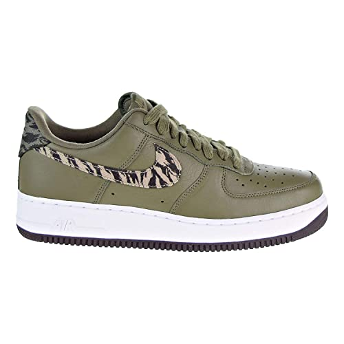 best service 58698 32f50 Nike Mens AIR Force 1 AOP PRM Basketball Shoes Medium OliveKhaki-Velvet  Brown