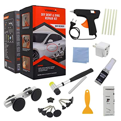 Visbella DIY Paintless Ding and Dent Puller Remover Repair Kit, Vehicle  Auto Car Body PDR Tools