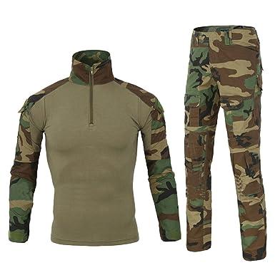 6c0d1c5045f42a YuanDian Herren Tactical Camouflage Uniformen 2 Stück Sets Outdoor Militär  Combat Frosch Anzug Armee Jagd Hosen Atmungsaktiv Langarm T Shirt Top  Tarnmuster ...