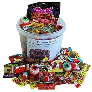Halloween Party Bucket con Halloween Dulces y Chocolate, 1kg