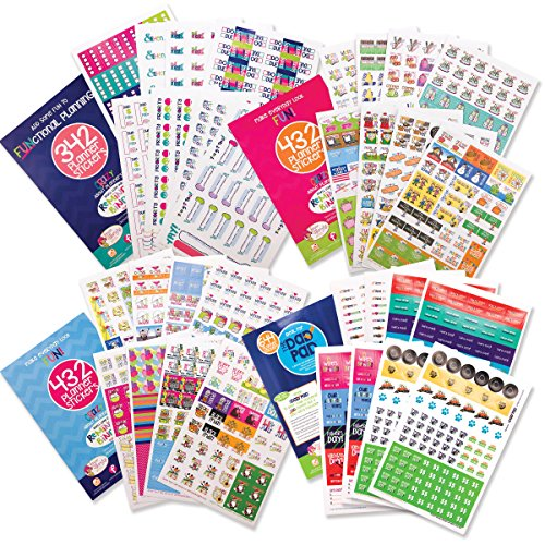 EPIC Planner Stickers Variety Bundle Set (Qty 1850) for Mom, Dad, Student, Teacher for Home, Work, Family, School, Holidays, Bills, Appointments, To-Do, Dates, Goal Tracking, Reminders for any -