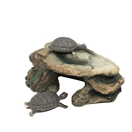 Colorido Aquarium Fish Tank Turtle Reptile Island Dock Basking Platform Simulation Rock - 25222