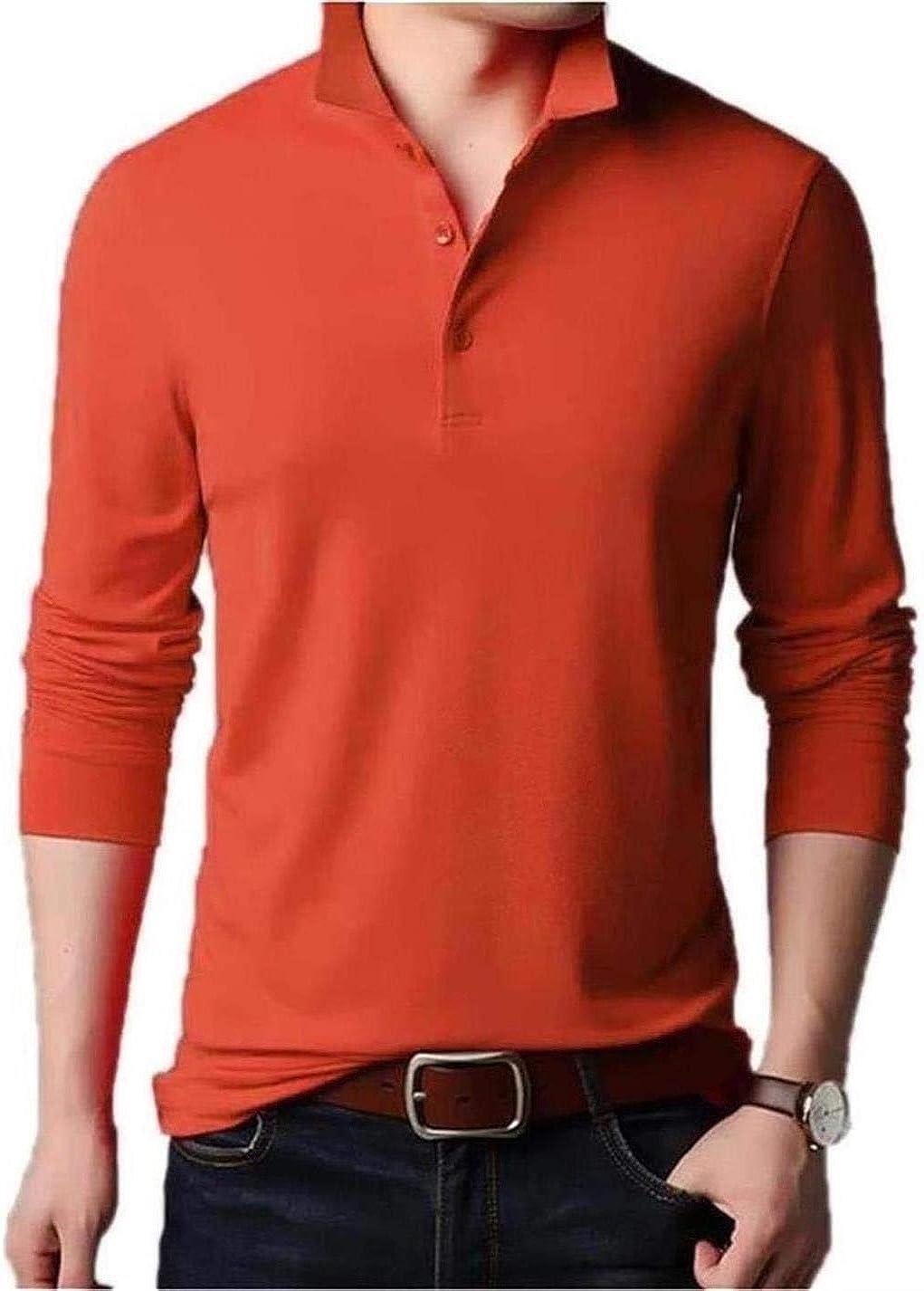 Aiyino Mens Short Sleeve Polo Shirts Casual Slim Fit Basic Designed Cotton Shirts