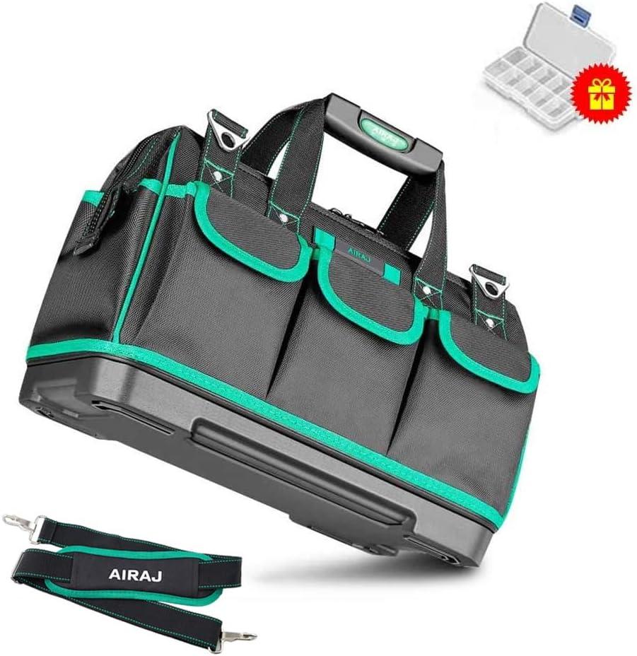 AIRAJ14 adatta per elettricisti lavoratori di manutenzione falegnami Borsa portautensili multifunzionale con fondo in gomma impermeabile famiglie