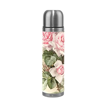 Amazon.com: JSTEL - Botella de agua de acero inoxidable con ...