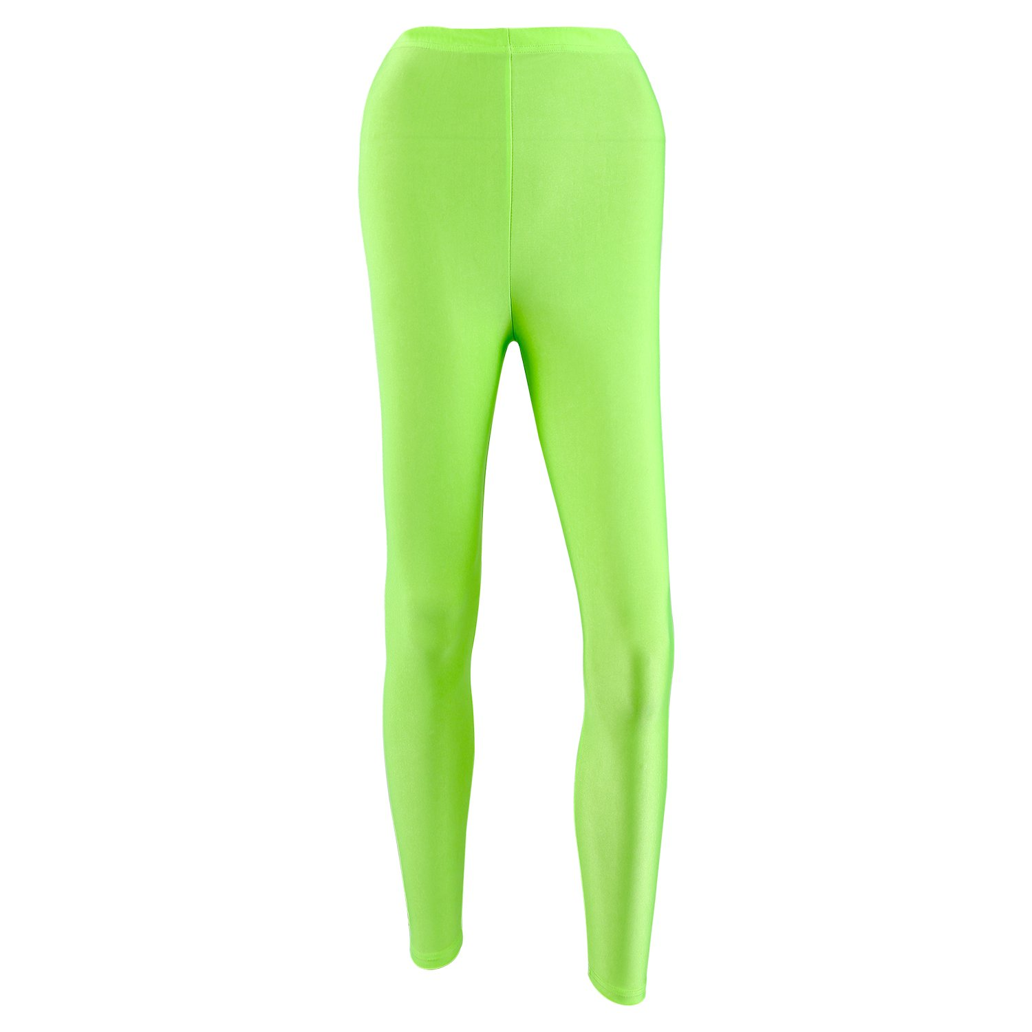 563c9b77cc745 MATERIAL:Made of 100% Polyester,which have a smooth slight nylon feel,Pair  with a solid color tunic top. 2.COLOR:Black Leggings with multi-color neon  ...