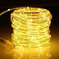 GreenClick Led-lichtsnoer voor buiten, 20 m lang, 336 leds, lichtslang voor binnen en buiten, warmwit, IP65 waterdicht…