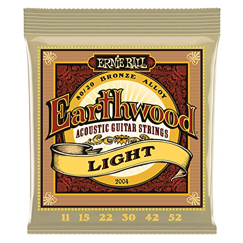 Ernie Ball Earthwood Light 80/20 Bronze Acoustic Set, .011 - .052 ()