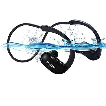KSCAT inalámbrico Bluetooth auriculares Natación impermeable IPX8 Auriculares Auriculares bajo el agua 8 GB Reproductor de