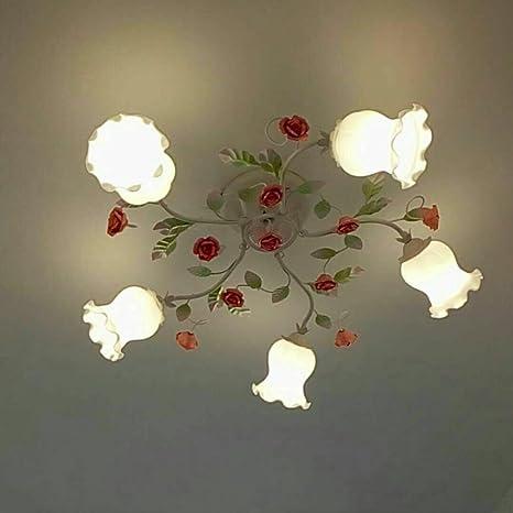 Pastoral Blumen Schlafzimmer Deckenleuchten Romantische ...