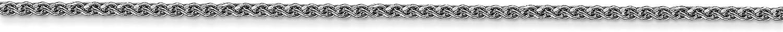 Bonyak Jewelry 14k WG 1.2mm Solid D//C Spiga Chain in 14k White Gold
