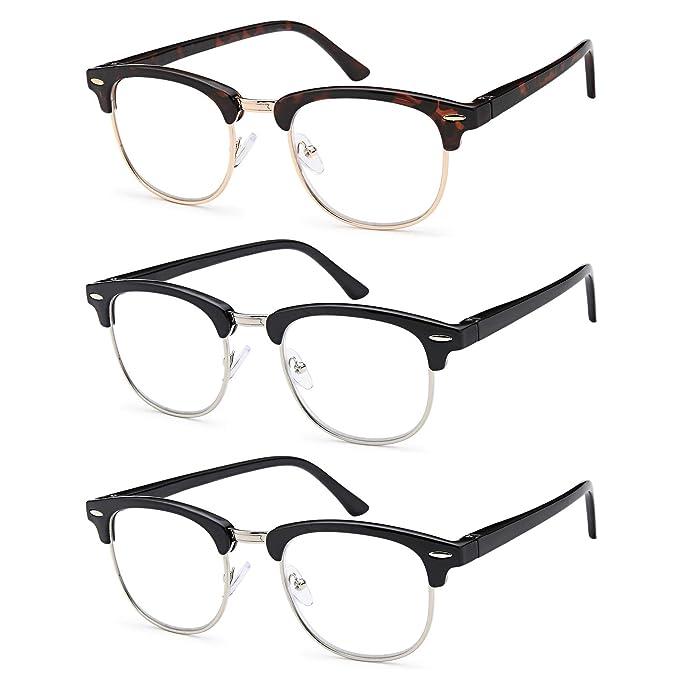 Amazon.com: Gamma Ray - 3 pares de gafas de lectura clásicas ...