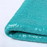 Zdada New Year's Day Party Table Runner Aqua Green 12''x120'' Spakrly Table Linens