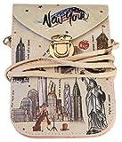 NEW YORK Souvenir Cellphone Travel Messenger Crossbody Bag Taxi Yellow
