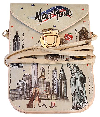 Price comparison product image NEW YORK Souvenir Cellphone Travel Messenger Crossbody Bag Taxi Yellow