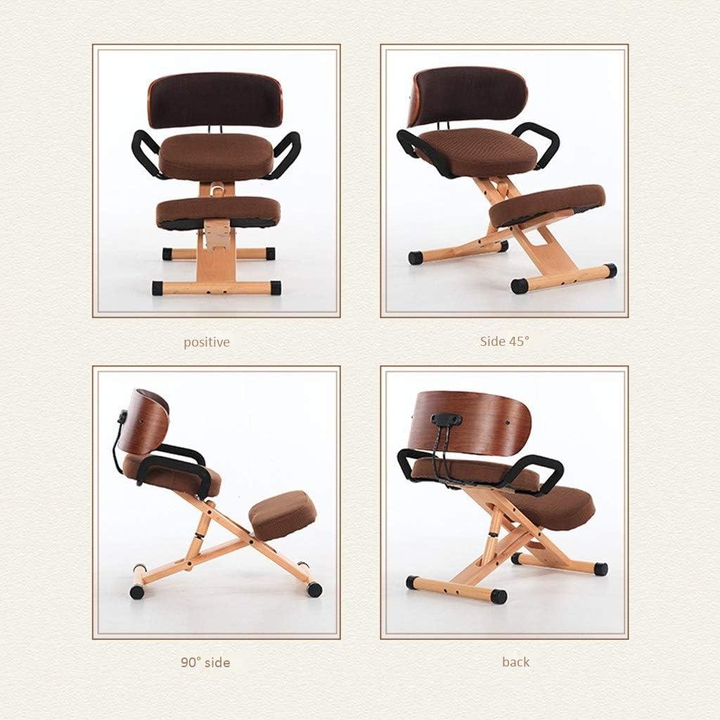 QIQIDEDIAN Chaise Ergonomique Chaises De Bureau Ergonomique Genoux Chaise Chaise Bon Ordinateur Posture Chaise Anti-myopie Taille Réglable (Color : Blue) Green