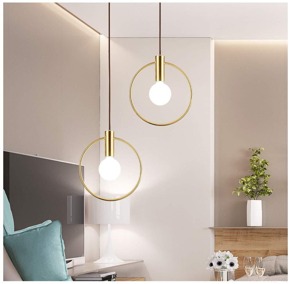 GG_L クリエイティブペンダントライト現代のリングシャンデリア新しいアイアンレストラン天井照明家の装飾フィクスチャ - ゴールド   B07TR57SKN