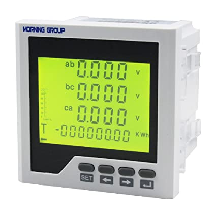 18b05490c39835 Morning Group 3 Phase LCD Digital Display Current Voltage Multifunction Energy  Power Panel Meter With RS485