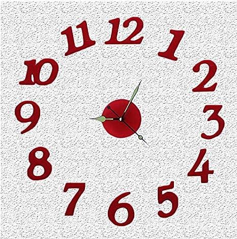 alrens (TM) números arábigos acrílico 3d sin Marco Silent reloj de pared DIY decoración para el ...