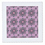 3dRose Andrea Haase Art Illustration - Mandala Ornament Pattern Pink With Turquoise - 20x20 inch quilt square (qs_268244_8)