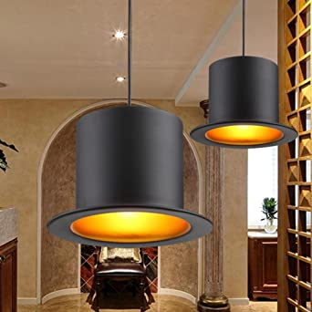 Lampe suspension rétro chapeau forme design Fer Abat-jour suspension ...